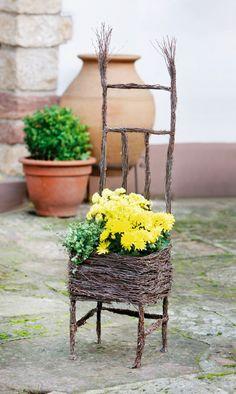 """Pflanz-Korb """"Stuhl"""" - Country-Garden - Garten & Terrasse"""