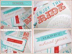 free printable Back To School tags