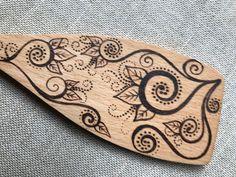 Woodburned Spatula Spoon Wood Wooden Kitchen Utensil Handmade Burned by Hand Original Art Functional Decorative Art OOAK by BeeSymmetry on Etsy https://www.etsy.com/listing/534635777/woodburned-spatula-spoon-wood-wooden