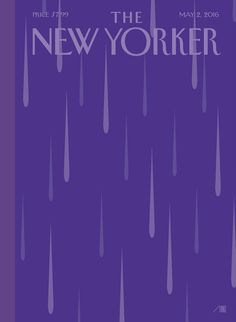 """Cover Story: """"Purple Rain,"""" by Bob Staake - The New Yorker/ i cant sleep tonight..."""