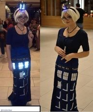 omg, epic Tardis cosplay FTW // this one should go on multiple boards, but let's start with her wig = love.   This is what we need to do for our cas