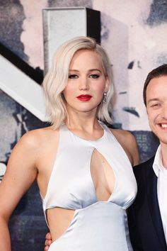 Jennifer Lawrence & James McAvoy at the X-Men: Apocalypse premiere in London