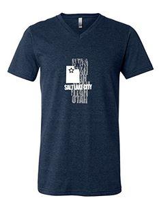 Salt Lake City Utah 3005 Premium V-Neck T-shirt Slogan Humorous Tee Shirt Heather Navy Small Sod Uniforms http://www.amazon.com/dp/B019WXSRGE/ref=cm_sw_r_pi_dp_oiSGwb0JAFK8S