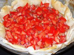 Tarte au fromage de chèvre et tomate