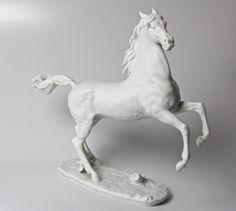Kaiser White Porcelain Horse 481 Rearing by Vintage4Vintage, $425.00
