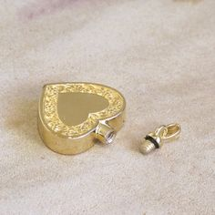 Solid 14k Gold Floral Edged Heart for holding precious keepsakes inside.