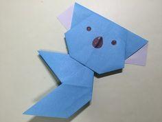 折り紙ランド Vol,425 コアラの折り方 Ver.2 Origami: How to fold a koala Ver:2 - YouTube