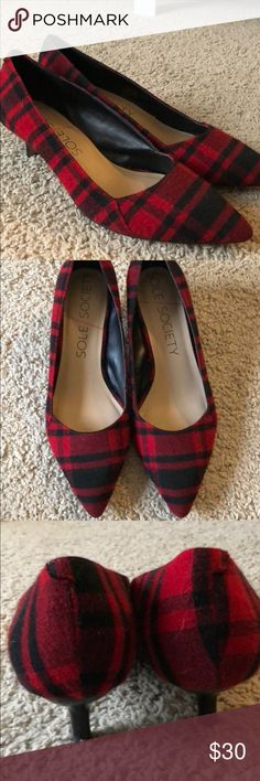 Sole Society Plaid Kitten Heels Size 9.5. Gently worn. So adorable. Sole Society Shoes Heels