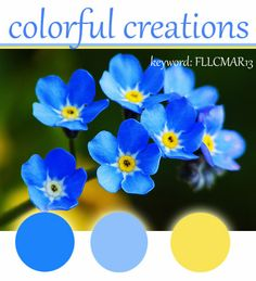 Flourishes color challege ...colors of forget-me-nots ...