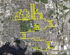 By plotting intricate bike rides around the Baltimore area, WallyGPX — real name Michael J. Wallace — has GPS-painted dozens and dozens of images using the city like a giant Etch-A-Sketch.