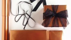 It's a Wrap, Yo! #1 (Wrapping Tips): Copper Tones for Fall and Masculine Gifts