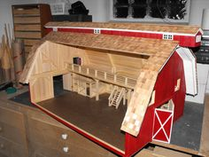 wooden toy barn plans