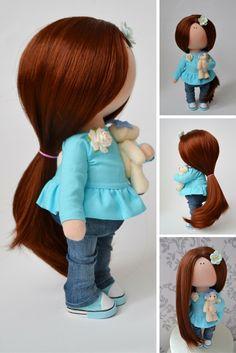 Russian doll Baby doll Fabric doll Interior doll Handmade doll Soft doll Love doll Aqua doll Rag doll Textile doll Art doll