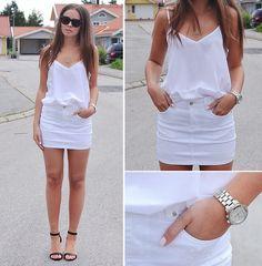 White Denim Skirts are Back for Summer   StyleCaster