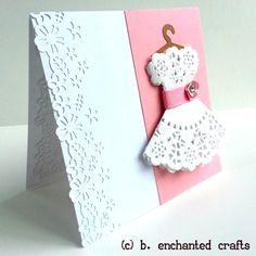 Little Girl's Birthday Party Dress- Birthday Card for Girl