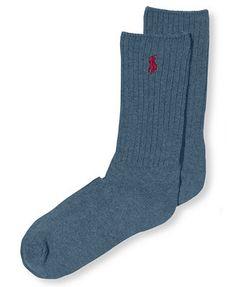 Polo Ralph Lauren Men's Socks, Cotton Crew Single Sock