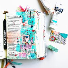 """0 Likes, 1 Comments - Rachel Lindas (@inspiredlightphotography) on Instagram: """"End result of the process video I posted before this. March Middle School Bible Journaling Class…"""""""