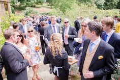 Drinks and canapes | Catherine & Tristan at Mapperton. Photo credit David Craik Photography