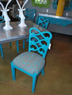 could make this myself with a thrift store chair! would make a fun accent to a room :)