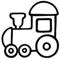 Раскраски для малышей - паровоз