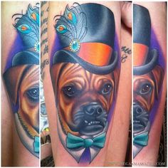 Rupert the puggle by Megan Massacre Pug Tattoo, Foot Tattoos, Tattoo You, Sleeve Tattoos, Tribal Arm, Ny Ink, Tattoos For Dog Lovers, Body Picture, Geometric Tattoos