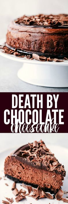 Death By Chocolate Cheesecake has an Oreo crust with creamy, decadent and rich chocolate cheesecake. Topped with dark chocolate ganache this is a chocolate lovers dream come true!