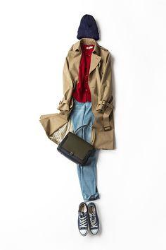 晴れた日に似合う 自分らしいトレンチスタイル 2015-01-29 | cardigan price :17,280 brand : LE TiROiR de DRESSTERIOR