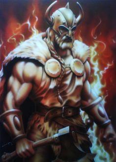 Viking Warrior by linkerart.deviantart.com on @deviantART