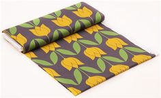 yellow-grey Tulip flower fabric by Michael Miller 5