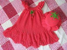 Croche pro Bebe: Vestidinhos achados na net,pura inspiração.... :)