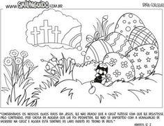 Desde de pequenos as crianças já são instruídas para entender o verdadeiro significado da Páscoa, as vezes a lição fica mais fácil quando se une com a diversão. Confira diversas imagens para colorir e imprimir de páscoa evangélica.