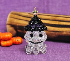 3D Beaded Ghost PATTERN Halloween