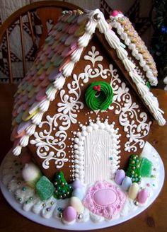 美しいデコレーションのお菓子の家