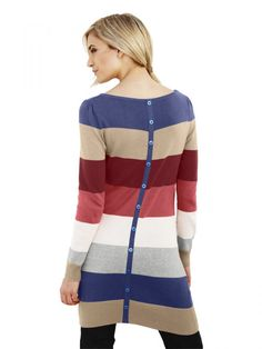 Long striped pullover