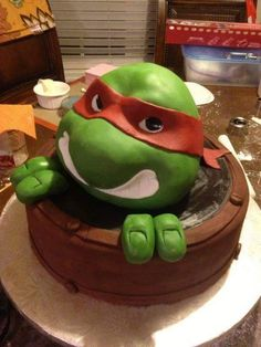 TMNT Cake Hulk cake from Publix but with ninja turtles cake kit