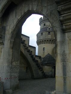 castle view through arch