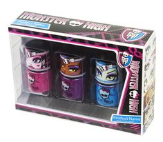 These nail polishes are totally clawsome! #monsterhigh #makeup #markwins
