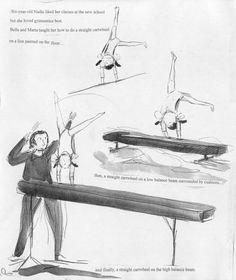 nadia9 Nadia Comaneci, Miss Marple, The Girl Who, Gymnastics, Illustration, Tennis, Interview, Character, Art