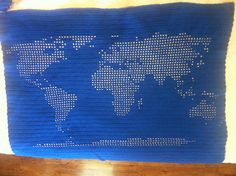 Hand crafted crochet world map blanket home decor aphgan throw ravelry world map blanket pattern by adrienne brigham gumiabroncs Images