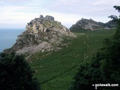 Walk Picture/View: Castle Rock and Rugged Jack from the South West Coast Path near Lee Abbey in Exmoor, Devon, England by Derek Lacey (11)
