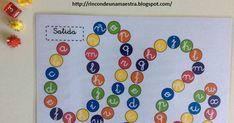 """Pensando en las primeras semanas de cole, tengo varios juegos preparados. """"El juego del abecedario"""" es uno de ellos. Nos servirá para dar un... Ideas Para, Education, Reading, Top School, Books, Speech Pathology, Learning Activities, Vision Therapy, Preschool Printables"""