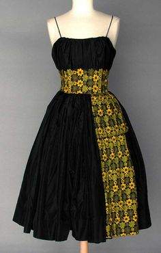 Vintage 1950 noir jupe Look nouvelle Party Dress robe des African Fashion Ankara, Latest African Fashion Dresses, African Print Dresses, African Print Fashion, African Prints, Moda Afro, Africa Dress, Dress Plus Size, Black Party Dresses