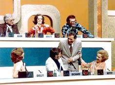 Betty White With Allen Ludden, Brett Somers, Charles Nelson Reilly, Dolly Read Martin, Richard Dawson, and Gene Rayburn on Match Game in 1973