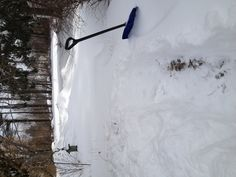 Shoveling my way out
