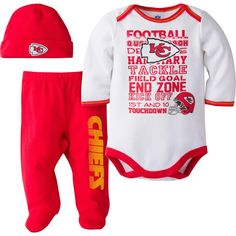 Chiefs Baby 3 Piece Outfit. 6 MonthsNfl Kansas City ... 8f6b28b25