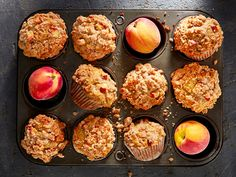 These peach cobbler muffins are one delicious way to use these lush, juicy stone fruits while they are in season. Biscuits, Simple Muffin Recipe, Sticky Toffee, Crisp Recipe, Stone Fruit, Sweet Tarts, Muffin Recipes, Loaf Recipes, Bakery Recipes