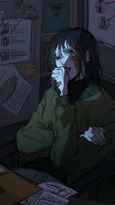 Dark Anime Girl, Anime Art Girl, Manga Art, Dark Art Illustrations, Illustration Art, Character Illustration, Pretty Art, Cute Art, Aesthetic Art