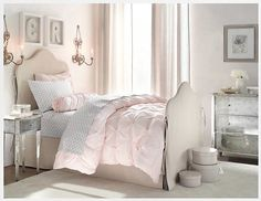 pink and grey bedroom - Yahoo Image Search Results