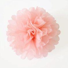 Pompom rosa / 1 ud de venta en: http://shop.fiestascoquetas.com