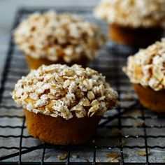 Pumpkin Muffins with Oats and Orange Marmalade | Orange marmalade gives these homey muffins a unique flavor, and the whole grains make them a more virtuous alternative to cupcake-like pumpkin muffins.